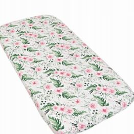 100% cotton cot sheet- pink garden- 2 sizes available