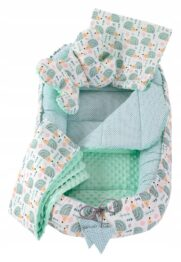 5in1 Baby Nest Set- mint hedgehog