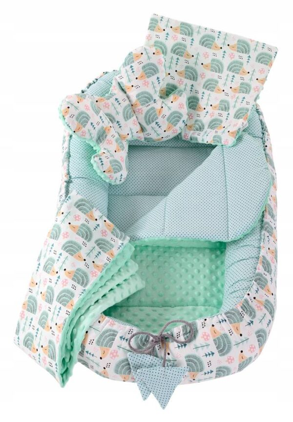 6in1 Baby Nest Set- mint hedgehog
