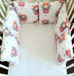 Premium pillow bumper- pink fairy