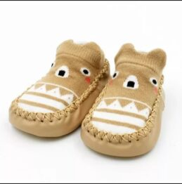 Baby anti slip booties- beige