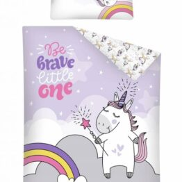 Toddler Bedding Set- brave unicorn