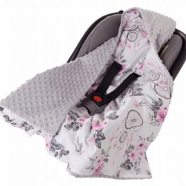 Car seat blanket- grey dream catchers