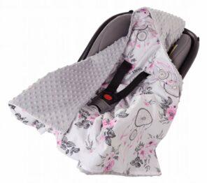 Car seat blanket- grey dream catchers
