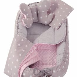 5in1 Baby Nest Set- pink/grey stars