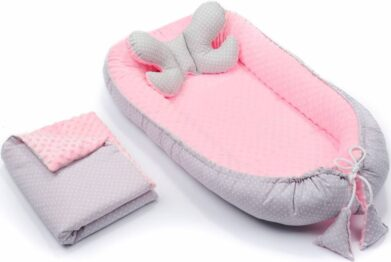 4in1 nest set- pink and grey dots