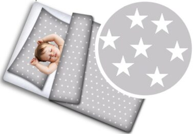 Toddler Bedding Set- grey stars