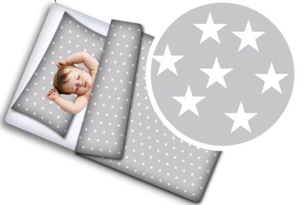Toddler Bedding Set- grey stars