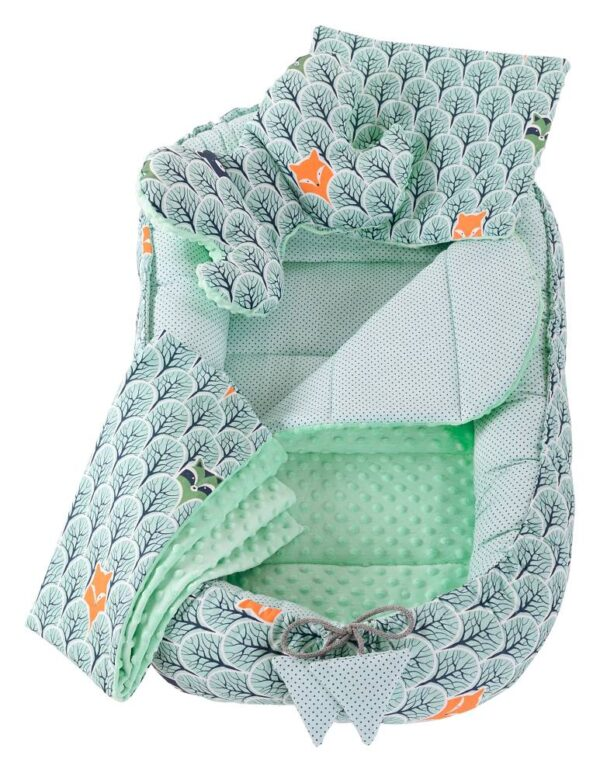 6in1 Baby Nest Set- mint forest