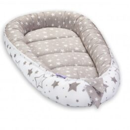 Comfort Baby Nest- grey mix stars