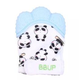 Teething mitten/ glove- blue panda