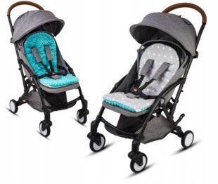 Buggy/car seat insert- blue/grey stars