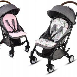 Buggy/car seat insert- pink/garden