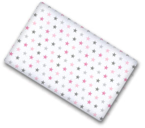 100% cotton cot sheet- pink stars- 2 sizes available