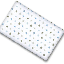 100% cotton cot sheet- blue stars- 2 sizes available