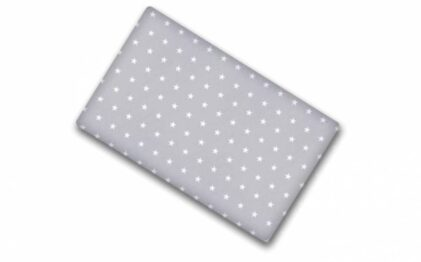 100% cotton cot sheet- grey stars- 2 sizes available