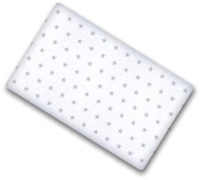 100% cotton cot sheet- grey stars on white- 2 sizes available