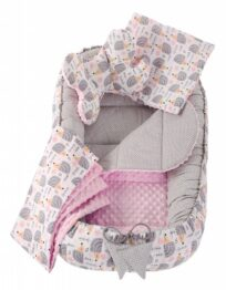 5in1 Baby Nest Set- pink hedgehog