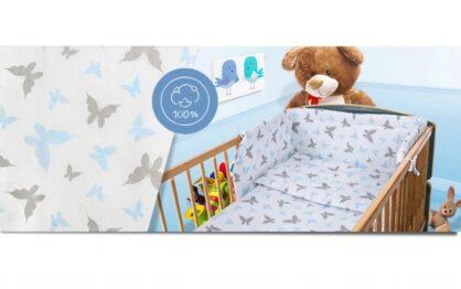 100% Cotton Bedding set- blue butterflies