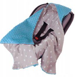 Car seat blanket- blue stars