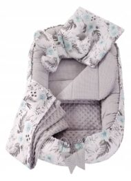 5in1 Baby Nest Set- blue flowers