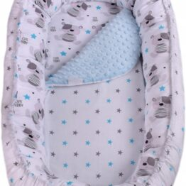 Baby Nest- blue teddy long