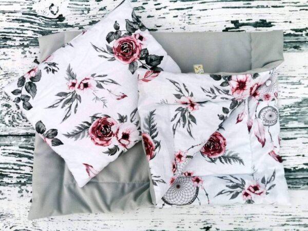 Premium minky blanket set-size 70x50cm/grey dream catchers