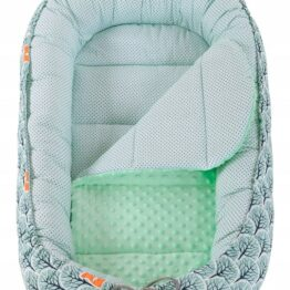 Baby Nest- mint foxes long