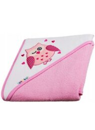 Large baby hooded towel- pink