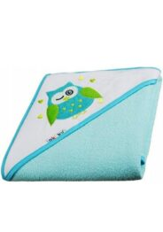 Large baby hooded towel- turquoise