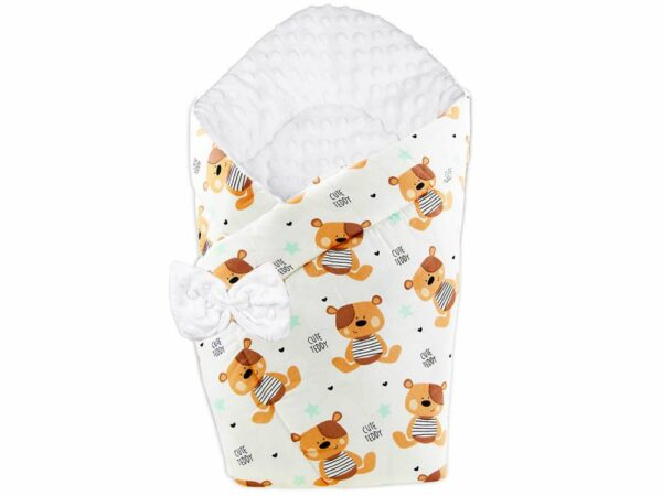 3in1 Baby Swaddle Wrap- cute teddies