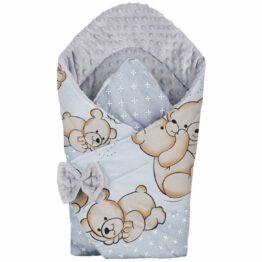 3in1 Baby Swaddle Wrap- hug teddies
