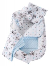 5in1 Baby Nest Set- blue teddies