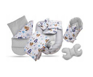 6-piece nest set- grey/blue teddies