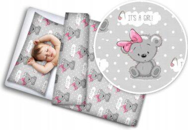 Toddler Bedding Set- teddy girl
