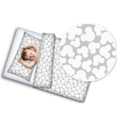 100% Cotton Bedding set- grey mickey