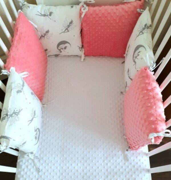 Premium pillow bumper- salmon orange fairy