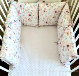 Premium pillow bumper- birds