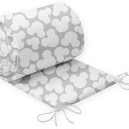 Cot bed bumper 420x30cm- grey mickey