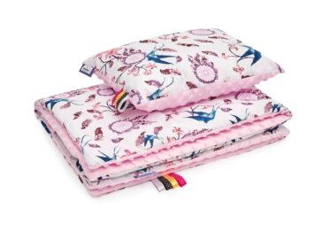 Minky blanket set- pink dream catchers