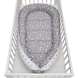 Baby Nest XXL- grey stars