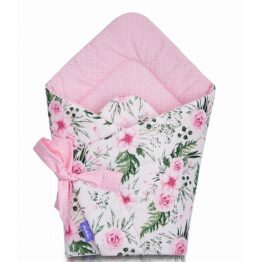 100% cotton Baby Swaddle Wrap- pink garden