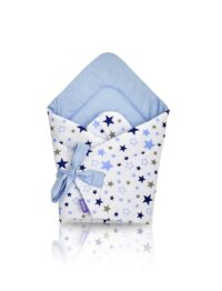 100% cotton Baby Swaddle Wrap- blue stars