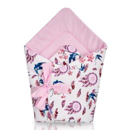 100% cotton Baby Swaddle Wrap- pink dream catchers