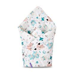 100% cotton Baby Swaddle Wrap- mint teddies