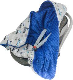 Warm Car seat blanket- navy ready go