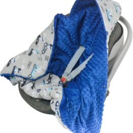 Warm Car seat blanket- navy ready go