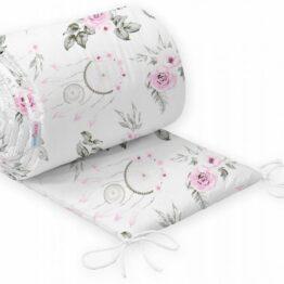 Cot bed bumper 420x30cm- pink dream catchers