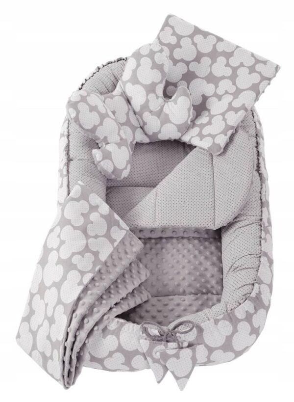 6in1 Baby Nest Set- grey mickey
