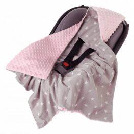 Car seat blanket- pink stars